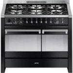 SMEG Opera 100 cm Dual Fuel Range Cooker – Black, Black