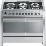 SMEG A2-8 100 cm Dual Fuel Range Cooker – Stainless Steel, Stainless Steel