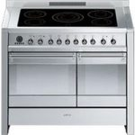 SMEG Opera 100 cm Electric Induction Range Cooker – Stainless Steel, Stainless Steel