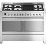 SMEG Opera 120 cm Dual Fuel Range Cooker – Stainless Steel, Stainless Steel