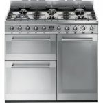 SMEG Symphony 90 cm Dual Fuel Range Cooker – Stainless Steel, Stainless Steel