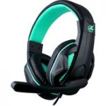 PORT DESIGNS Arokh H-1 Gaming Headset – Black & Green, Black