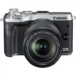 CANON EOS M6 Mirrorless Camera with 18-150 mm f/3.5-6.3 Wide-angle Zoom Lens – Silver, Silver