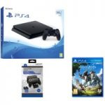 PLAYSTATION 4 Slim, Horizon Zero Dawn & Twin Docking Station Bundle