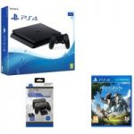 PLAYSTATION 4 Slim, Horizon Zero Dawn & Twin Docking Station Bundle – 1 TB