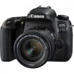 CANON EOS 77D DSLR Camera with 18-55 mm f/4-5.6 IS STM Zoom Lens – Black, Black
