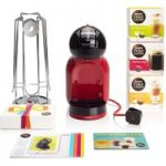 DOLCE GUSTO by Krups Mini Me KP120BUN Hot Drinks Machine Starter Pack – Red, Red