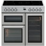 FLAVEL MLN9CRS 90 cm Electric Range Cooker – Silver, Silver