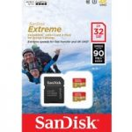 SANDISK Extreme Class 10 microSD Memory Card – 32 GB, Twin Pack