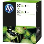HP 301XL Black Ink Cartridge – Twin Pack, Black