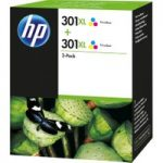 HP 301XL Tri-colour Ink Cartridge – Twin Pack