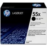 HP 55X High Yield Original LaserJet Black Toner Cartridge, Black