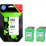 HP 343 Tri-colour Ink Cartridge – Twin Pack