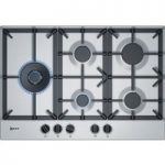 NEFF T27DS79N0 Gas Hob – Stainless Steel, Stainless Steel