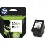 HP 304XL Black Ink Cartridge, Black
