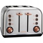 MORPHY RICHARDS Accents 102105 4-Slice Toaster – Brushed Stainless Steel & Rose Gold, Stainless Steel