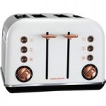 MORPHY RICHARDS Accents 242106 4-Slice Toaster – White & Rose Gold, White
