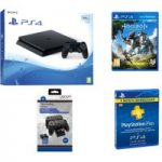 PLAYSTATION 4 Slim, Horizon Zero Dawn, Docking Station & 3 Month PlayStation Plus Bundle