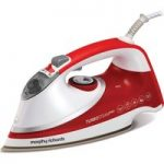 MORPHY RICHARDS Turbosteam Pro Pearl 303124 Steam Iron – White & Red, White