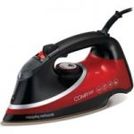 MORPHY RICHARDS Comfigrip 303118 Steam Iron – Black & Red, Black