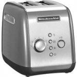 KITCHENAID 5KMT2116BCU 2-Slice Toaster – Silver, Silver