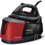 MORPHY RICHARDS Auto-Clean Power Steam Elite 332013 Steam Generator Iron – Black & Red, Black