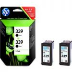 HP HP 339 Black Original Ink Cartridges – Twin Pack, Black