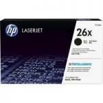 HP 26X High Yield Black Toner Cartridge, Black