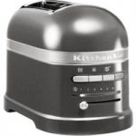 KITCHENAID Artisan 5KMT2204BMS 2-Slice Toaster – Medallion Silver, Silver