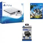 PLAYSTATION 4 Slim, Horizon Zero Dawn & Twin Docking Station