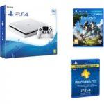 PLAYSTATION 4 Slim, Horizon Zero Dawn & PlayStation Plus 3 Month Subscription Bundle