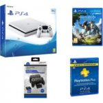 PLAYSTATION 4 Slim, Horizon Zero Dawn, Docking Station & PlayStation Plus 3 Month Subscription Bundle
