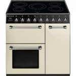 SMEG Blenheim BM93IP 90 cm Electric Induction Range Cooker – Cream & Black, Cream