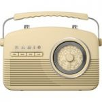 AKAI Retro A60010C Portable Radio – Cream, Cream