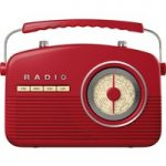 AKAI A60010R Portable Analogue Retro Radio – Red, Red