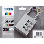 EPSON Padlock 35 Cyan, Magenta, Yellow & Black Ink Cartridges – Multipack, Cyan
