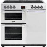 BELLING Gourmet 90E PROF STA 90 cm Dual Fuel Range Cooker – Stainless Steel, Stainless Steel