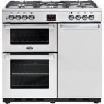 BELLING Gourmet 90DFT 90 cm Dual Fuel Range Cooker – Stainless Steel, Stainless Steel