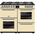 BELLING Kensington 100DFT Dual Fuel Range Cooker – Cream & Chrome, Cream