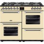 BELLING Kensington 100DFT Dual Fuel Range Cooker – Cream & Chrome, Cream