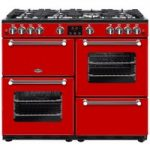 BELLING Kensington 100G Gas Range Cooker – Red & Chrome, Red