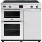 BELLING Gourmet 90Ei Professional Electric Induction Range Cooker – Stainless Steel, Stainless Steel