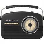 AKAI Retro A60010 Portable Radio – Black, Black