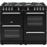BELLING Kensington 100G Gas Range Cooker – Black & Chrome, Black