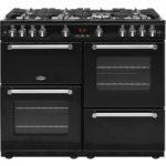 BELLING Kensington 100G Gas Range Cooker – Black & Chrome, Black