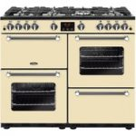 BELLING Kensington 100G 100 cm Gas Range Cooker – Cream & Chrome, Cream