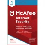 MCAFEE Internet Security – 1 user / 1 device for 1 year