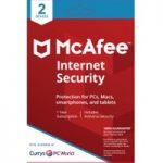 MCAFEE Internet Security – 1 user / 2 devices for 1 year