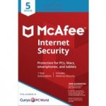 MCAFEE Internet Security – 1 user / 5 devices for 1 year