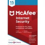 MCAFEE Internet Security – 1 user / 15 devices for 1 year